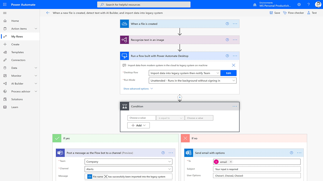 Power Automate Screenshot